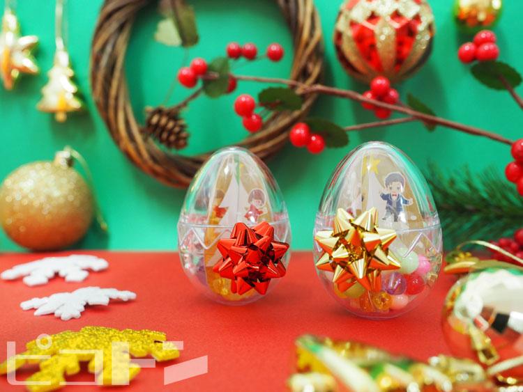 東芝クリスマスイベント仕様のエッグマラカス。