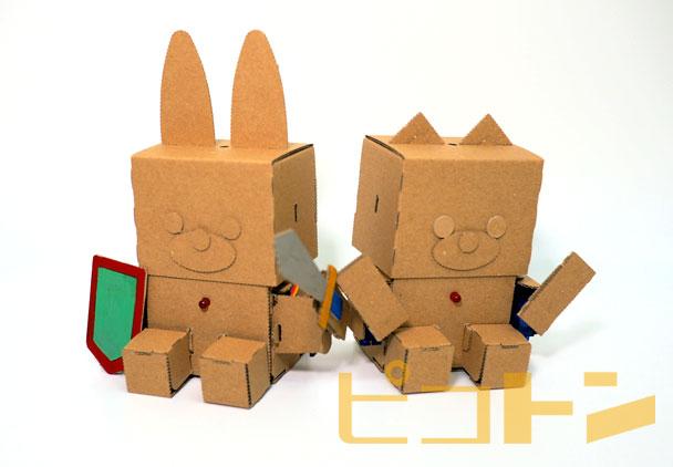embotのサンプルロボットが並んでいる様子