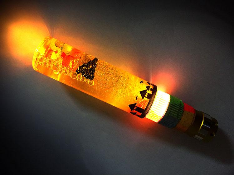 光る!ウォータースティックライトのハロウィンバージョン