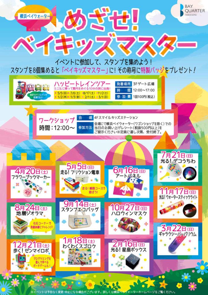 年間イベント『めざせ!ベイキッズマスター』のポスター