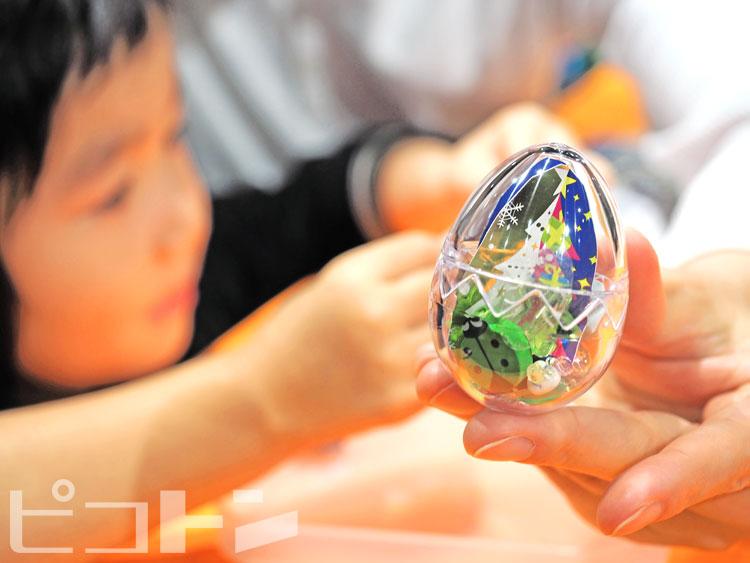 エッグマラカスは幼児から参加できます。