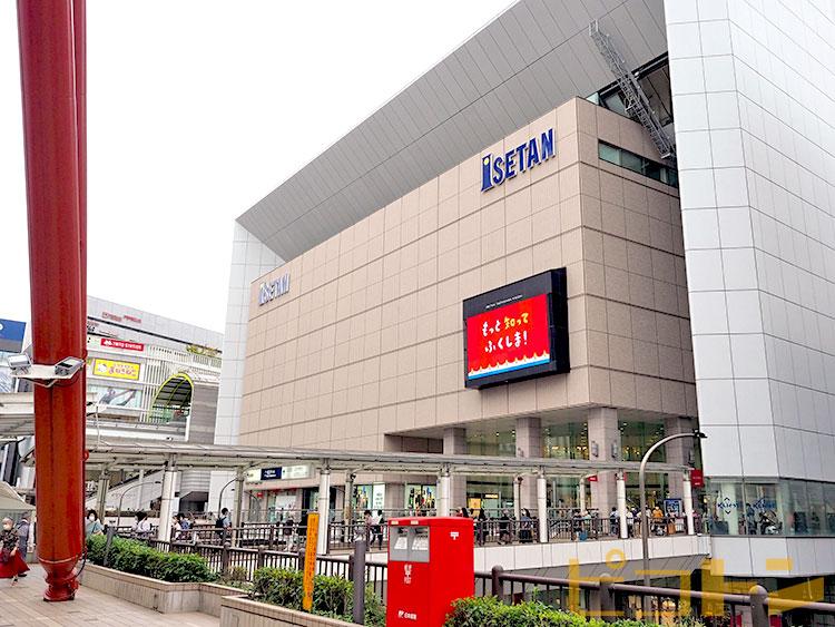伊勢丹立川店の駅側の入り口です。