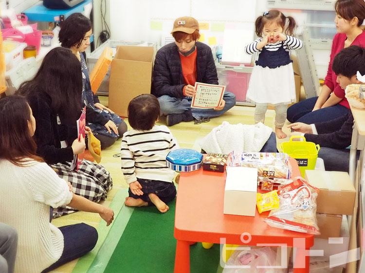 ミーティングをしている時も子供たちは一緒です。